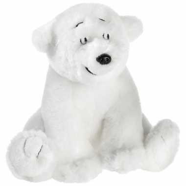 Pluche lars de kleine ijsbeer/beren knuffel 15 cm speelgoed