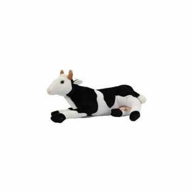Pluche liggende koe knuffel 35 cm
