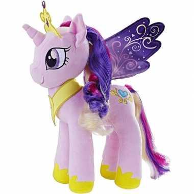 Pluche lila my little pony cadance knuffel 35 cm speelgoed