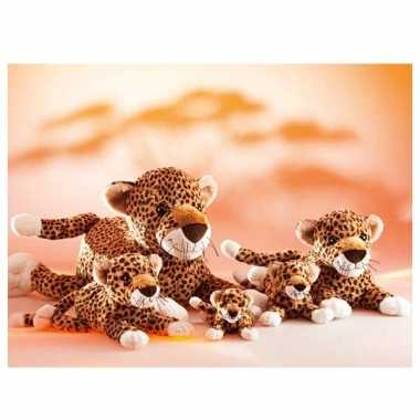 Pluche luipaard knuffel 32 cm