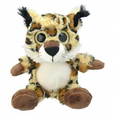 Pluche lynx knuffel 21 cm