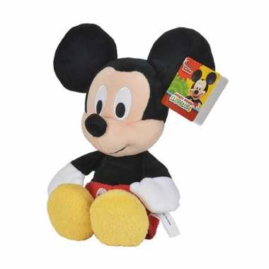 Pluche mickey mouse knuffel 25 cm disney speelgoed