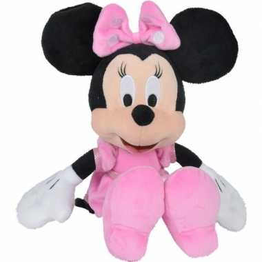 Pluche minnie mouse knuffel 25 cm disney speelgoed