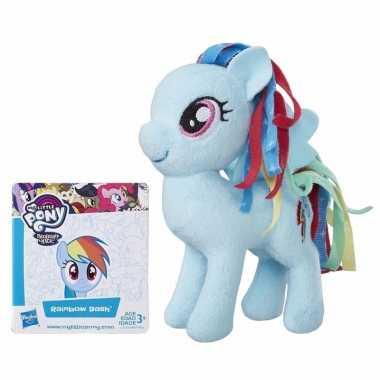 Pluche my little pony knuffel rainbow dash 13 cm
