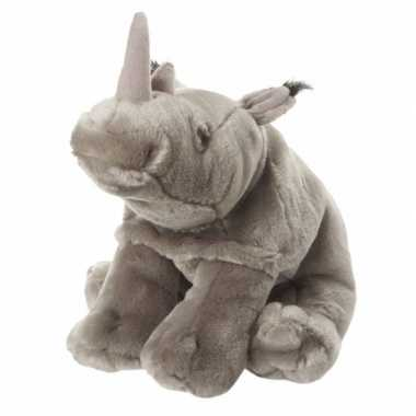 Pluche neushoorn knuffel 18 cm