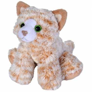 Pluche oranje cyperse kat/poes knuffel 18 cm speelgoed