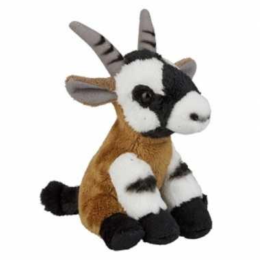 Pluche oryx steenbok knuffel 15 cm speelgoed
