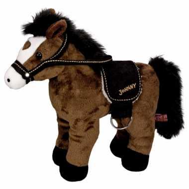 c1228161609674 Pluche paarden knuffel donkerbruin 30 cm | Knuffel.info