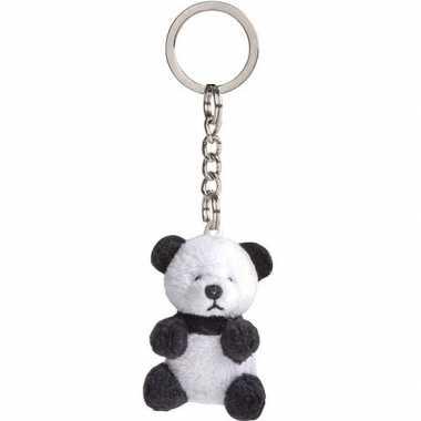 Pluche panda knuffel sleutelhangers 6 cm