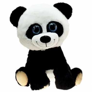Pluche pandabeer knuffel zittend 65 cm