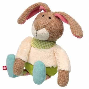 Pluche patchwork haas/konijn knuffel 28 cm