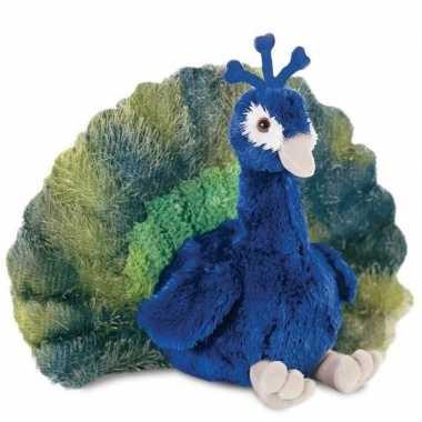Pluche pauw vogel knuffel 30 cm baby speelgoed