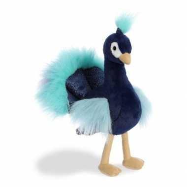 Pluche pauw vogel knuffel 30 cm speelgoed