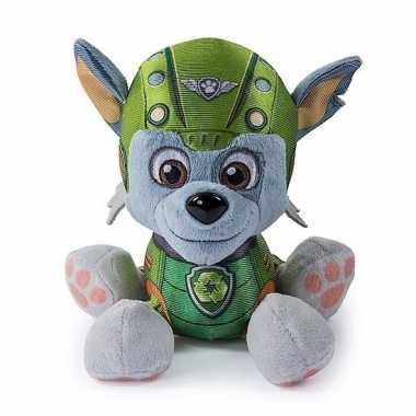 Pluche paw patrol rocky air rescue knuffel 15 cm