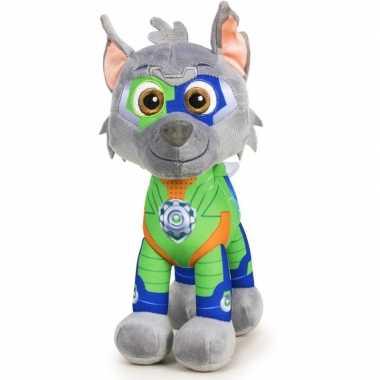 Pluche paw patrol rocky mighty pups knuffel 27 cm speelgoed