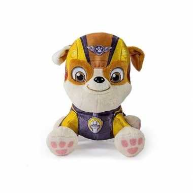 Pluche paw patrol rubble air rescue knuffel 15 cm