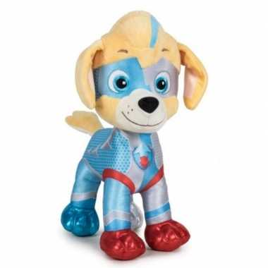 Pluche paw patrol tuck mighty pups super paws knuffel 27 cm