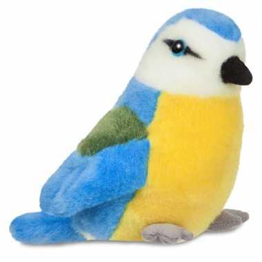 Pluche pimpelmees vogel knuffel 20 cm speelgoed
