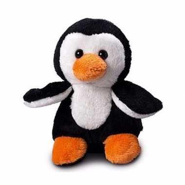 Pluche pinguin knuffel 12 cm met beschrijfbaar label