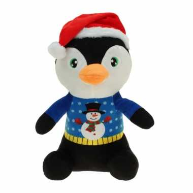 Pluche pinguin knuffel 30 cm kerstknuffels
