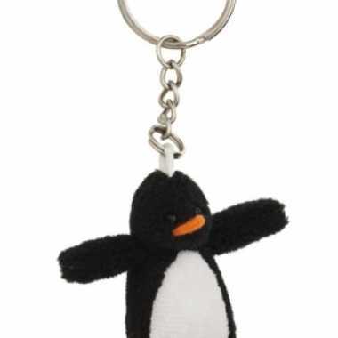 Pluche pinguin knuffel sleutelhangers 6 cm