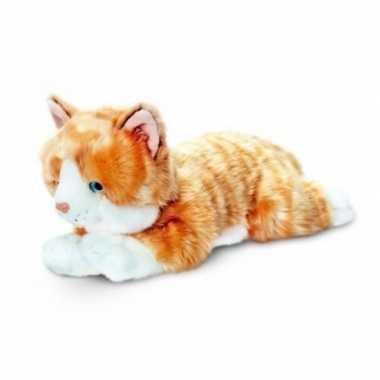Pluche rode katten/poes/poezen knuffel van 35 cm