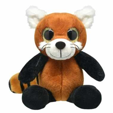 Pluche rode panda knuffel 30 cm