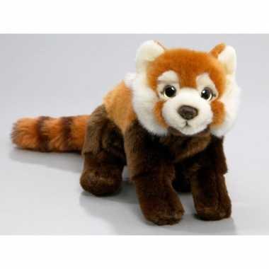 Pluche rode panda knuffel 37 cm