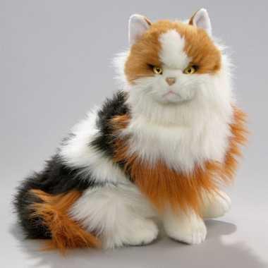 Pluche rood bonte katten knuffel 35 cm
