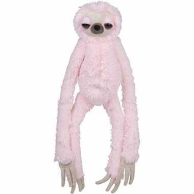 Pluche roze luiaard knuffel 60 cm speelgoed