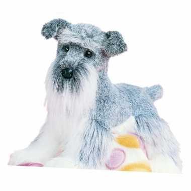 Pluche schnauzer hond knuffel 41 cm