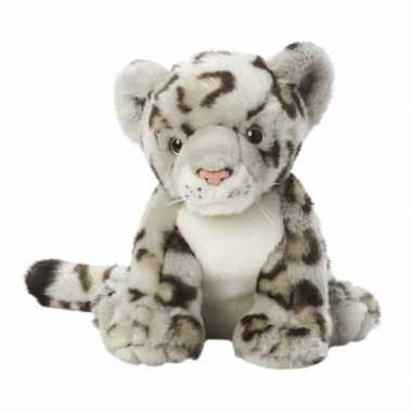 Pluche sneeuw luipaard knuffel 22 cm