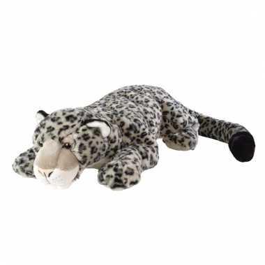 Pluche sneeuw luipaard knuffel 76 cm