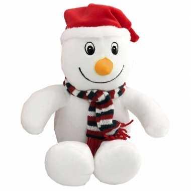 Pluche sneeuwpop knuffel 26 cm