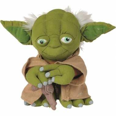 Pluche star wars yoda knuffel 25 cm