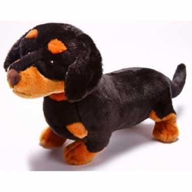 Pluche teckel honden knuffel 31 cm