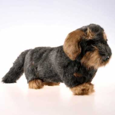 Pluche teckel knuffel hond 45 cm