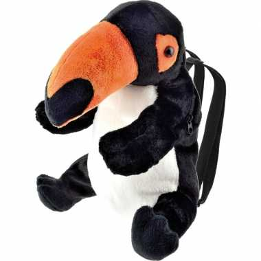 Pluche toekan vogel rugtas/rugzak knuffel 32 cm