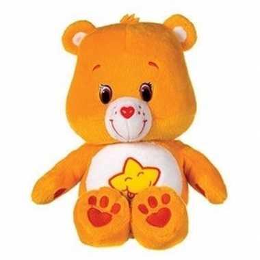Pluche troetelbeertje knuffel oranje 22 cm