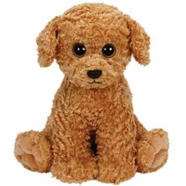 Pluche ty beanie bruine honden knuffel luke 24 cm