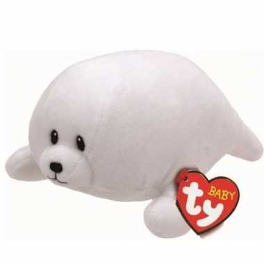 Pluche ty beanie witte zeehond knuffel tiny 17 cm