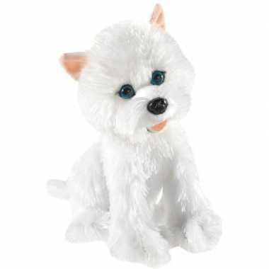 Pluche west highland terrier honden knuffel 25 cm speelgoed