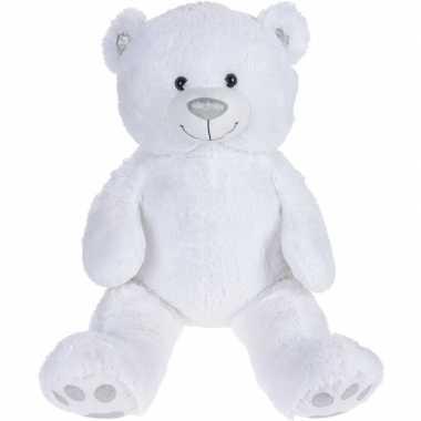 Pluche witte beer/beren knuffel 75 cm speelgoed