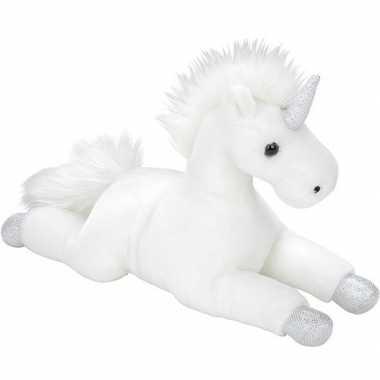 Pluche witte eenhoorn knuffel 35 cm speelgoed