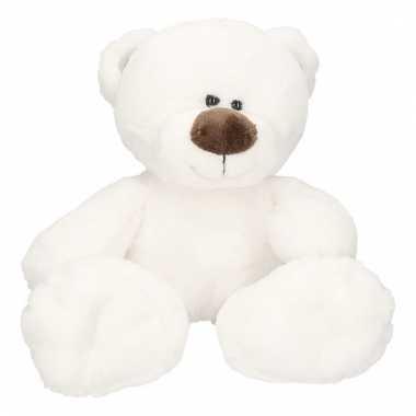 Pluche witte ijsbeer bobo knuffel 38 cm