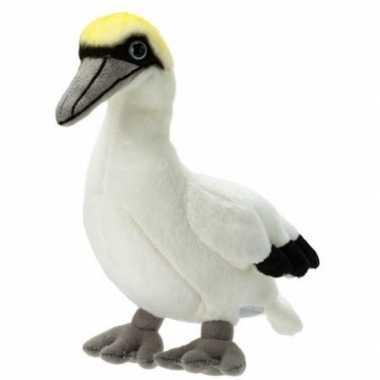 Pluche witte jan van gent zeevogel knuffel 17 cm speelgoed