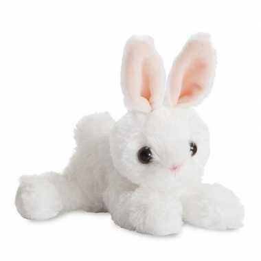 Pluche witte konijn/haas knuffel 20 cm speelgoed