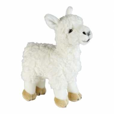 Pluche witte lama/alpaca knuffel 32 cm