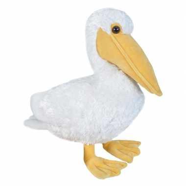Pluche witte pelikaan knuffel 30 cm