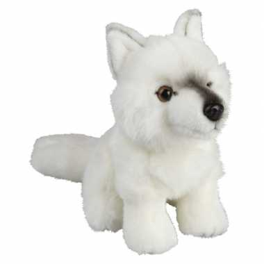 Pluche witte poolwolf/wolven knuffel 18 cm speelgoed